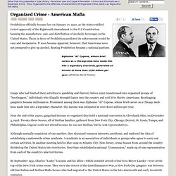 Organized Crime - American Mafia - York, Families, Mob, Family, Bosses, and Prison