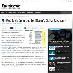 70+ Web Tools Organized For Bloom's Digital Taxonomy