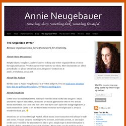 The Organized Writer