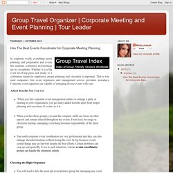 Organize Corporate Meeting or Corporate Event with Experts
