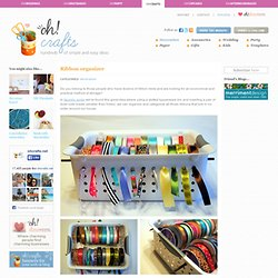 Ribbon organizer in Crafts for decorating and home decor, parties and events - StumbleUpon