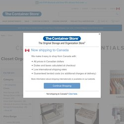 Closets: Closet Organizers, Closet Storage Ideas & Clothing Storage Organization