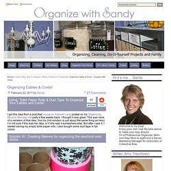 Organizing Cables & Cords! - Organize With Sandy