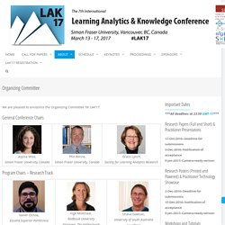 Learning Analytics & Knowledge 2017