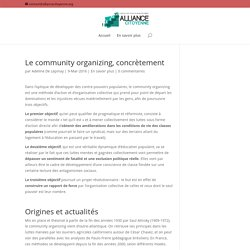 Le community organizing, concrètement