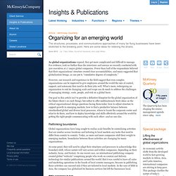 Organizing for an emerging world