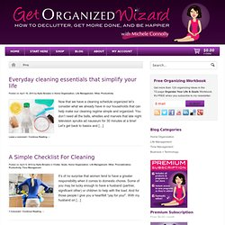 Get Organized Blog: Personal Organizing & Home Organization Tips