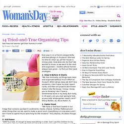 Organizing Tips - Home Organization Strategies