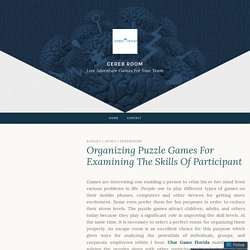 Organizing Puzzle Games For Examining The Skills Of Participant