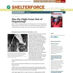 Has the Fight Gone Out of Organizing? - Shelterforce - National Housing Institute