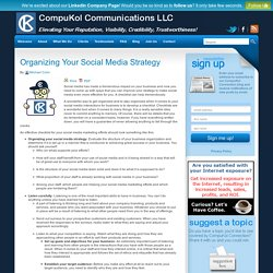 Organizing Your Social Media Strategy