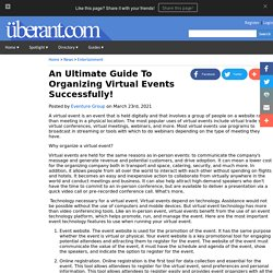 An Ultimate Guide To Organizing Virtual Events Successfully!
