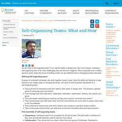Self-Organizing Teams: What and How - Scrum Alliance