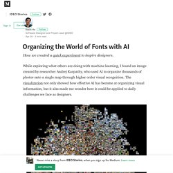 Organizing the World of Fonts with AI – IDEO Stories