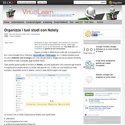 Organizza i tuoi studi con Notely - VirtuaLearn