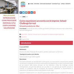 MIUR - Schoolkit: Come organizzare un evento con le imprese: School-Challenge for real