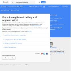 Rinominare gli utenti nelle grandi organizzazioni - Guida di Amministratore di G Suite