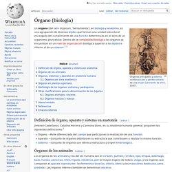 Órgano (biología)