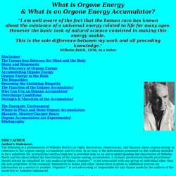 Orgonics Wilhelm Reich Orgone Accumulators and Products