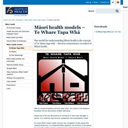 Māori health models – Te Whare Tapa Whā