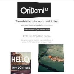 OriDomi - origami for the web