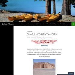 Chap 1 – L'Orient ancien