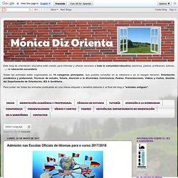 Mónica Diz Orienta: Admisión nas Escolas Oficiais de Idiomas para o curso 2017/2018