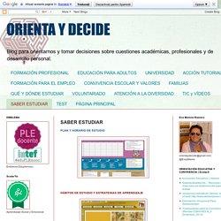ORIENTA Y DECIDE: SABER ESTUDIAR
