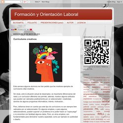 Formación y Orientación Laboral: Currículums creativos