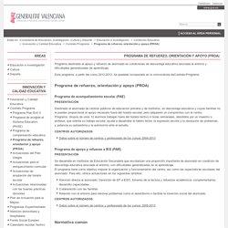 Programa de refuerzo, orientación y apoyo (PROA) - Generalitat Valenciana