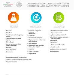 Orientación para el Servicio Profesional Docente