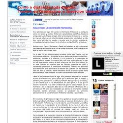 Evolucion de la Orientacion Profesional - Curso Tecnico Orientacion e Insercion Laboral