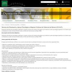 Servicio de Orientación y Apoyo Psicológico a Mujeres Víctimas de Violencia de Género (S.O.A.P.) - Diputación de Sevilla