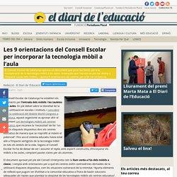 Les 9 orientacions del Consell Escolar per incorporar la tecnologia mòbil a l'aula