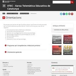 Educació primària. Orientacions. XTEC - Xarxa Telemàtica Educativa de Catalunya