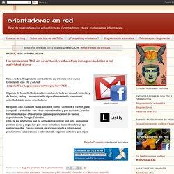 orientadores en red: OrienTIC C-V