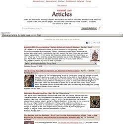 Asian art, Oriental art, Articles on Asianart.com