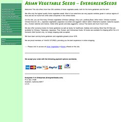 Oriental Vegetable Seeds