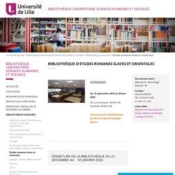 4/2 - 13h30/16h30 - BU Études romanes slaves et orientales - Bâtiment B Salle B4.118 - Université de Lille