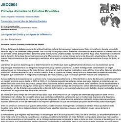Jornadas de Estudios Orientales - JEO2004 - Transoxiana - EEO, USAL