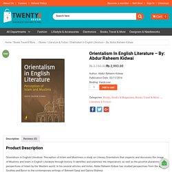 Buy Online Orientalism in English Literature Book at Twenty4Seven