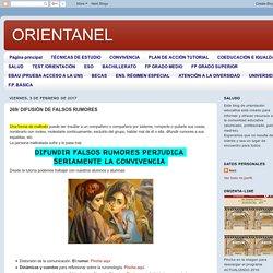 ORIENTANEL: 269/ DIFUSIÓN DE FALSOS RUMORES
