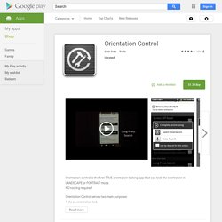Orientation Control - Android Apps on Google Play