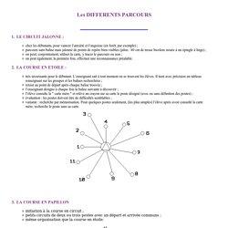 Course d'Orientation - Pratique scolaire - Les diff�rents parcours -