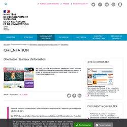 Orientation : les lieux d'information - Ministère de l'Enseignement supérieur, de la Recherche et de l'Innovation