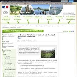 Le document d'orientation de gestion du site classé de la Seine-Boucle de Roumare - DREAL Normandie - Ministère de l'Environnement, de l'Énergie et de la Mer