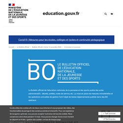 Calendrier 2021 examens - BO n°43 du 12 nov 2020