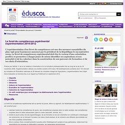 Orientation - Livret de compétences expérimental - ÉduSCOL
