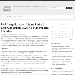 PHP Image Rotation Iphone Portrait EXIF Orientation GD2 and imagemagick Libraries