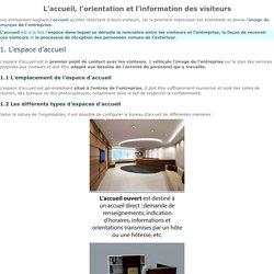ACCEUIL_ L'accueil, l'orientation et l'information des visiteurs
